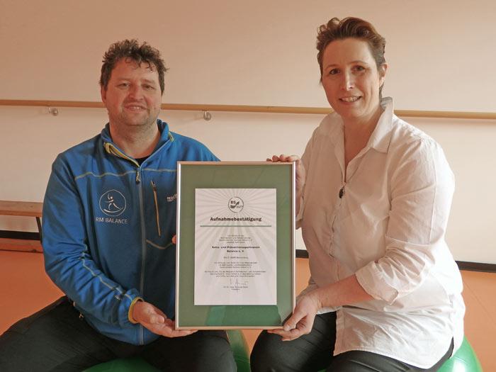 "BSSA begrüßt den Verein ""Reha- und Präventionssportverein Balance e. V."""