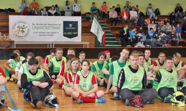 Jugend trainiert für Paralympics: Landesfinale Floorball 2019