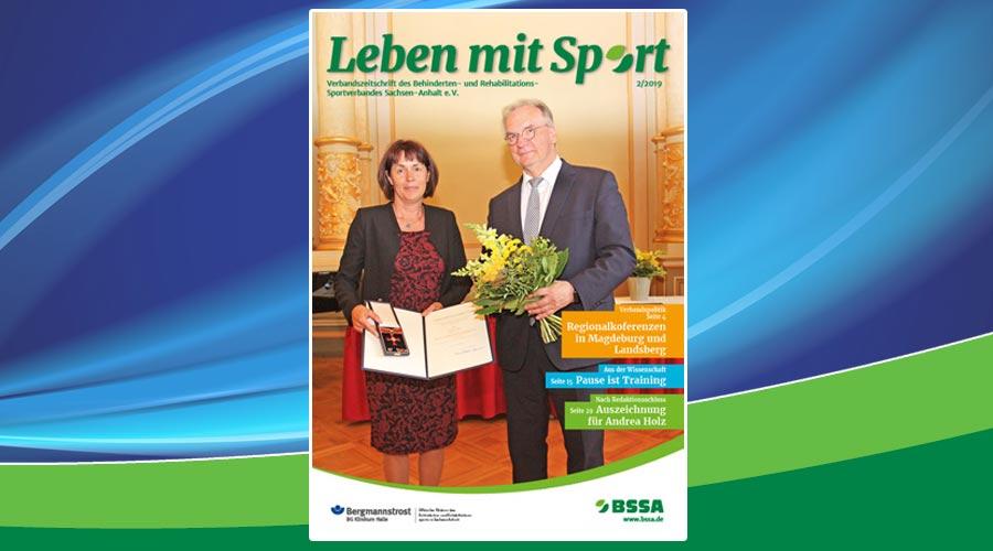 Willkommen im Sommer mit der Ausgabe 2/2019 der BSSA-Verbandszeitschrift Leben mit Sport