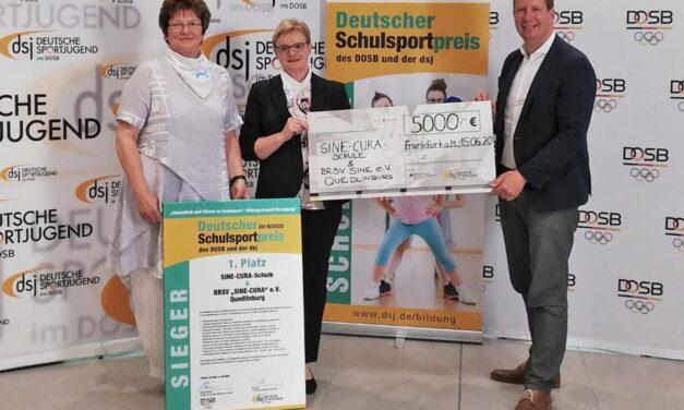 """Schule und BRSV """"SINE-CURA"""" Quedlinburg gewinnen Deutschen Schulsportpreis 2020"""