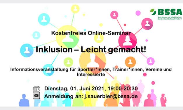 Online-Seminar: Inklusion – Leicht gemacht!